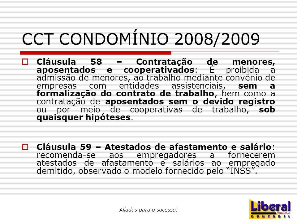 CCT CONDOMÍNIO 2008/2009