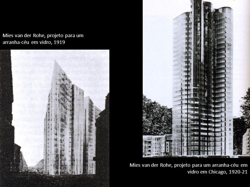 Mies van der Rohe, projeto para um arranha-céu em vidro, 1919