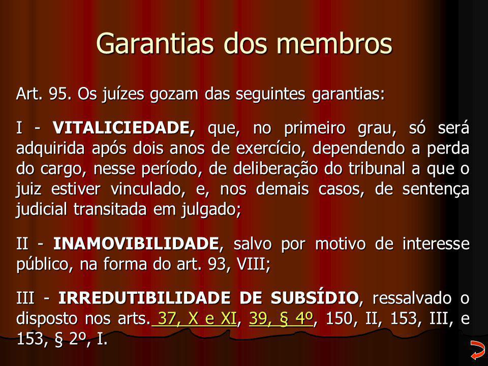 Garantias dos membros