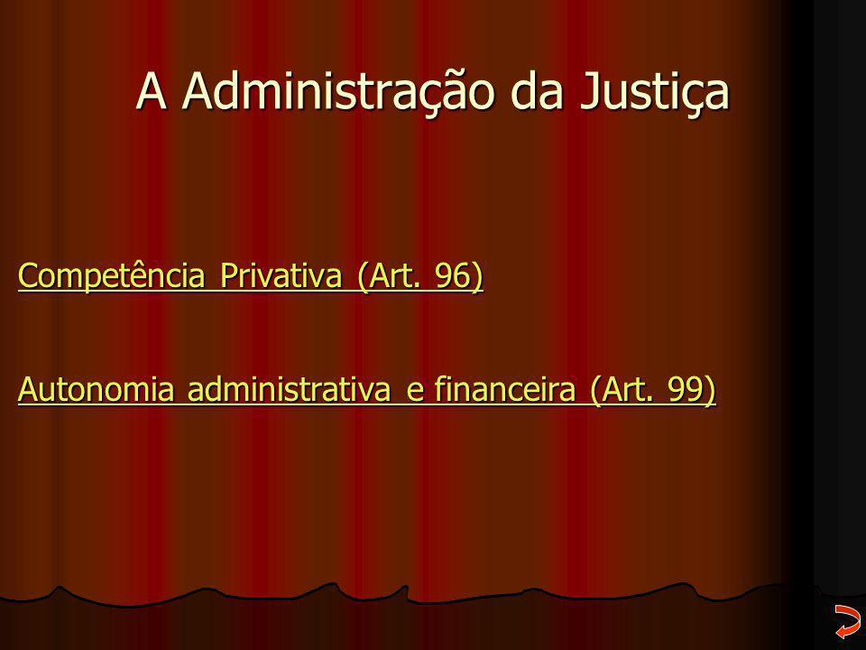 A Administração da Justiça
