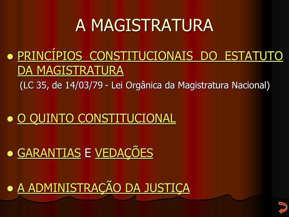 (LC 35, de 14/03/79 - Lei Orgânica da Magistratura Nacional)
