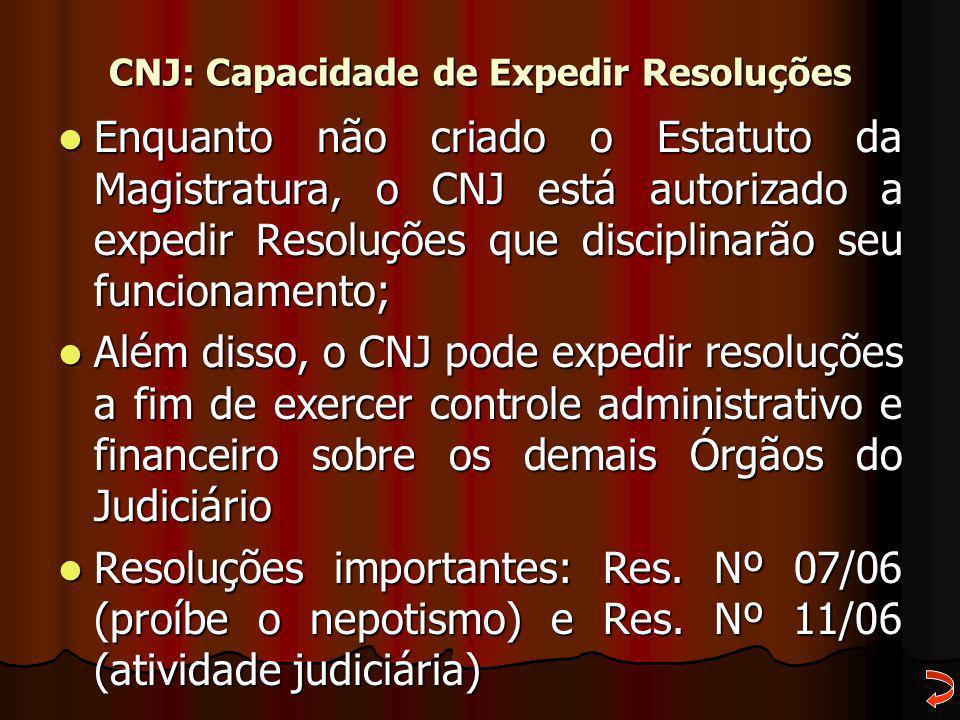 CNJ: Capacidade de Expedir Resoluções