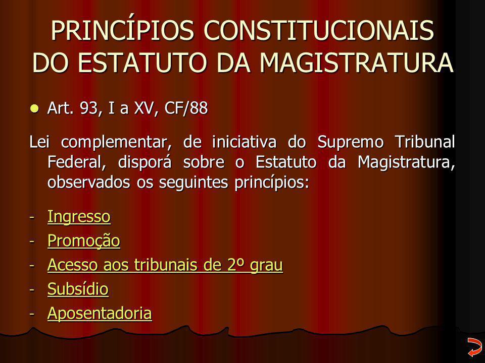 Princípios constitucionais do Estatuto da Magistratura