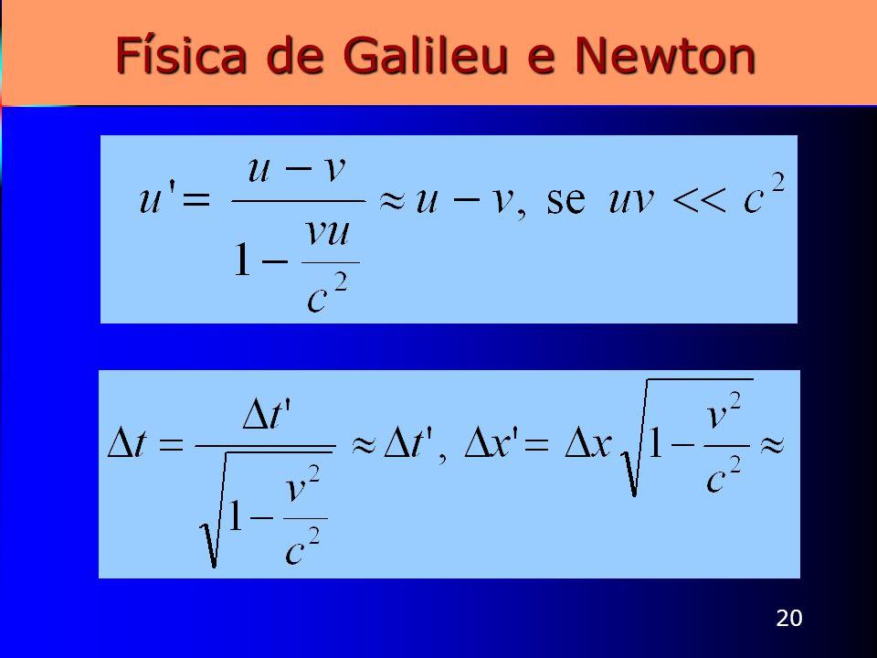 Física de Galileu e Newton