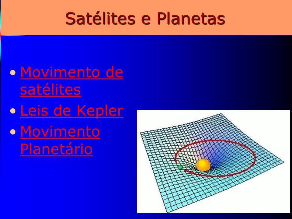 Satélites e Planetas Movimento de satélites Leis de Kepler