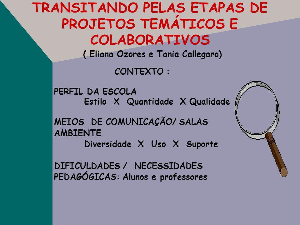 TRANSITANDO PELAS ETAPAS DE PROJETOS TEMÁTICOS E COLABORATIVOS