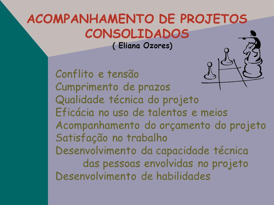 ACOMPANHAMENTO DE PROJETOS CONSOLIDADOS