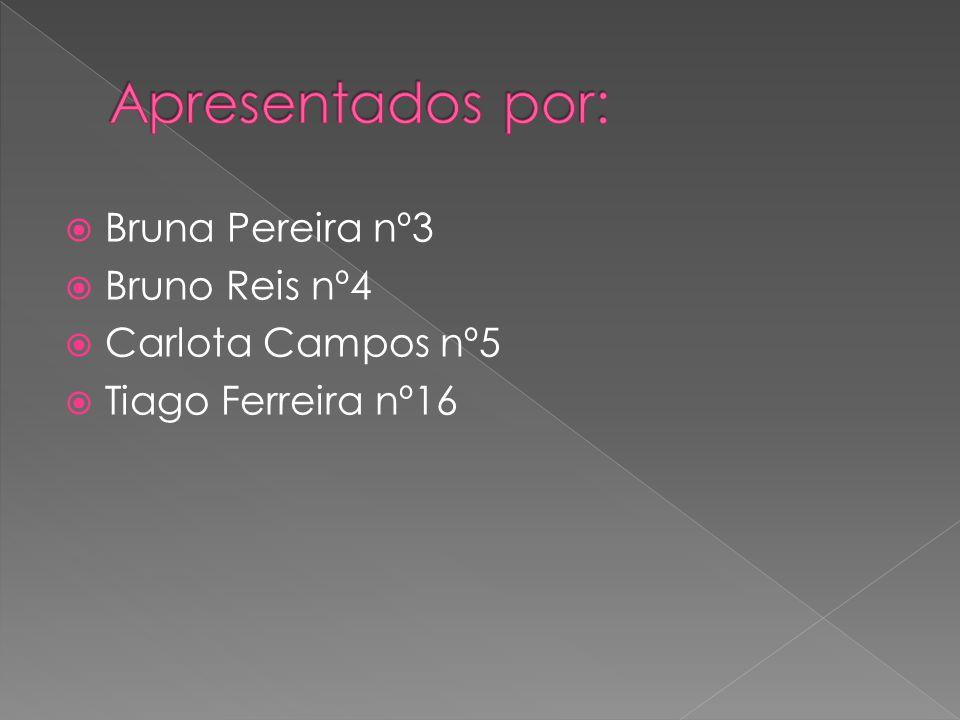 Apresentados por: Bruna Pereira nº3 Bruno Reis nº4 Carlota Campos nº5