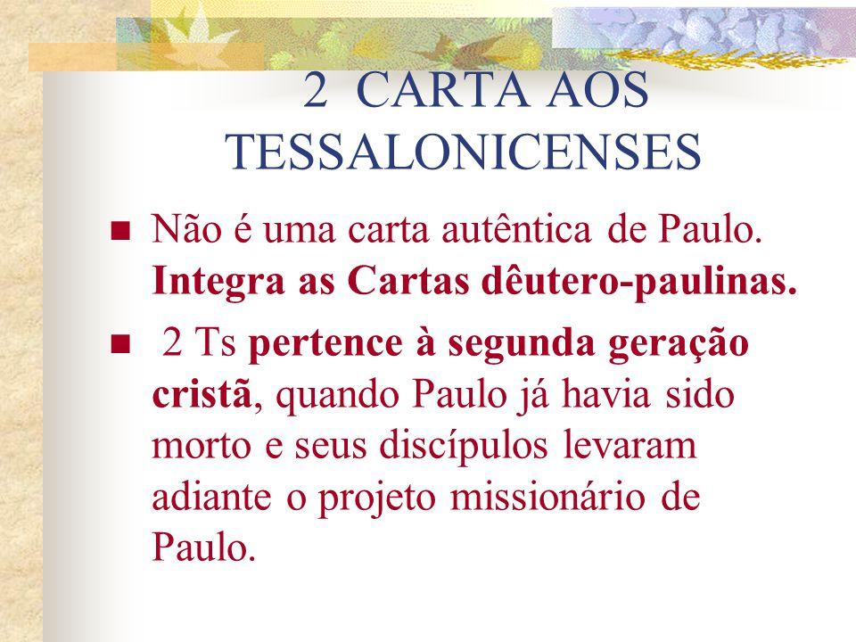 2 CARTA AOS TESSALONICENSES