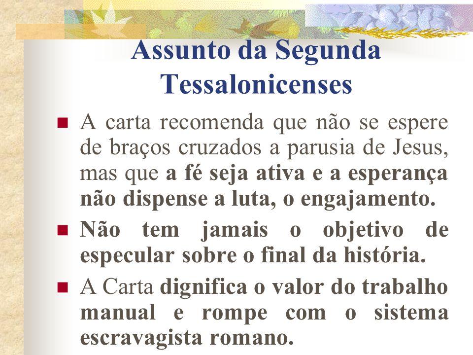 Assunto da Segunda Tessalonicenses