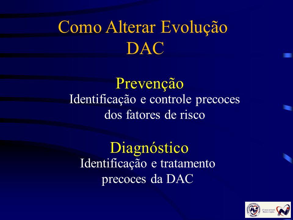 Como Alterar Evolução DAC Prevenção Diagnóstico