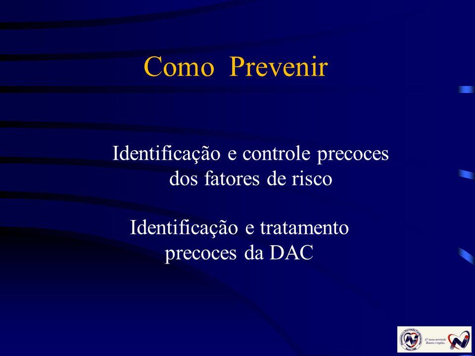 Como Prevenir Identificação e controle precoces dos fatores de risco