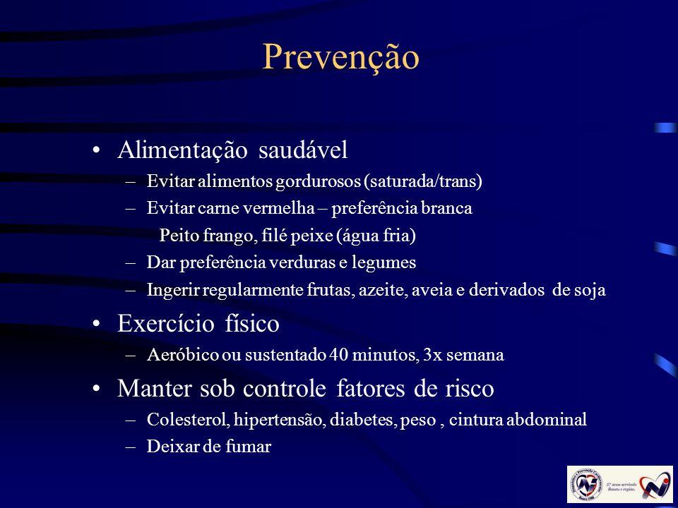 Prevenção Alimentação saudável Exercício físico