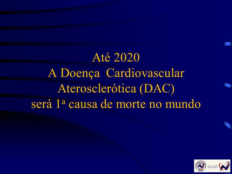Até 2020 A Doença Cardiovascular Aterosclerótica (DAC) será 1a causa de morte no mundo