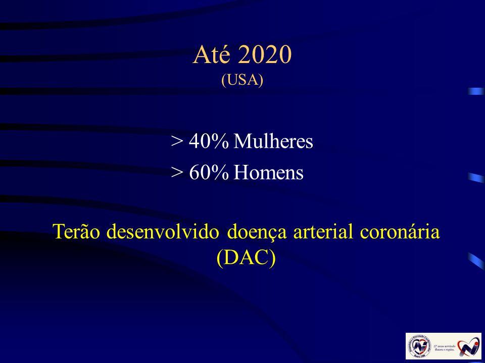 Terão desenvolvido doença arterial coronária (DAC)