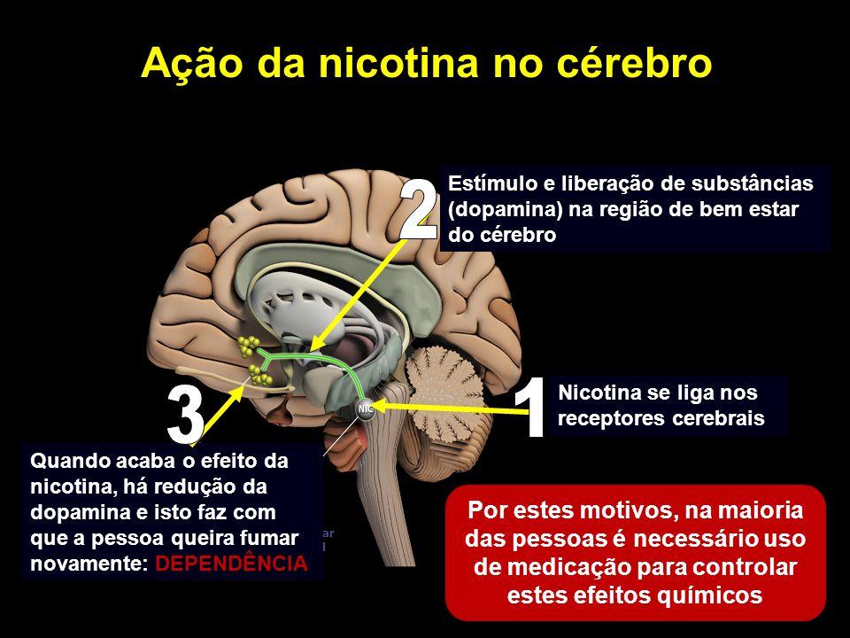 Ação da nicotina no cérebro