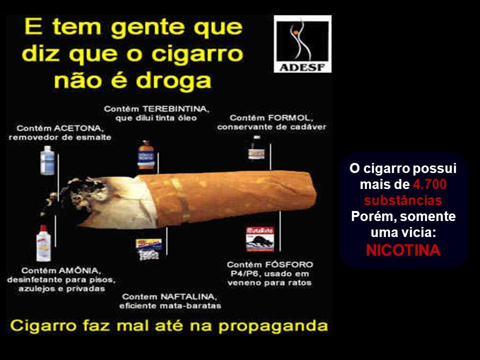 O cigarro possui mais de 4