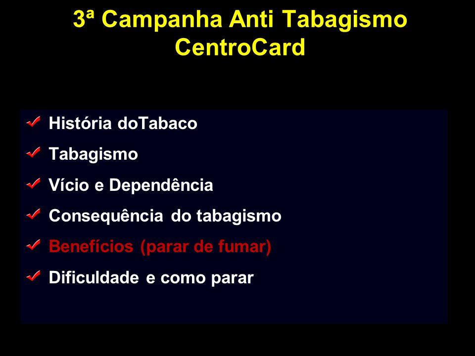 3ª Campanha Anti Tabagismo CentroCard