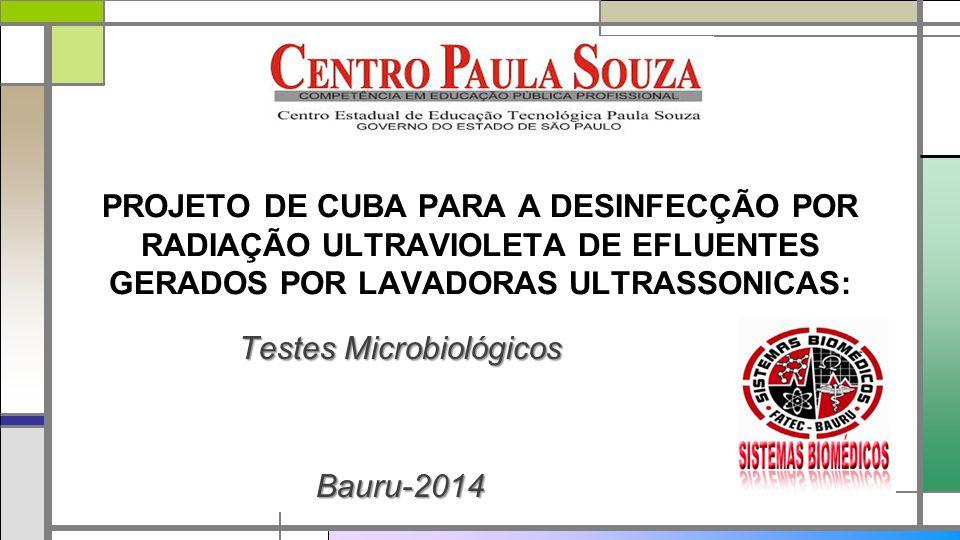 Testes Microbiológicos Bauru-2014
