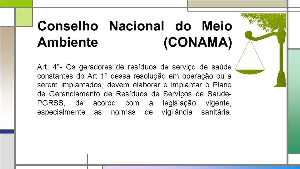 Conselho Nacional do Meio Ambiente (CONAMA) Art