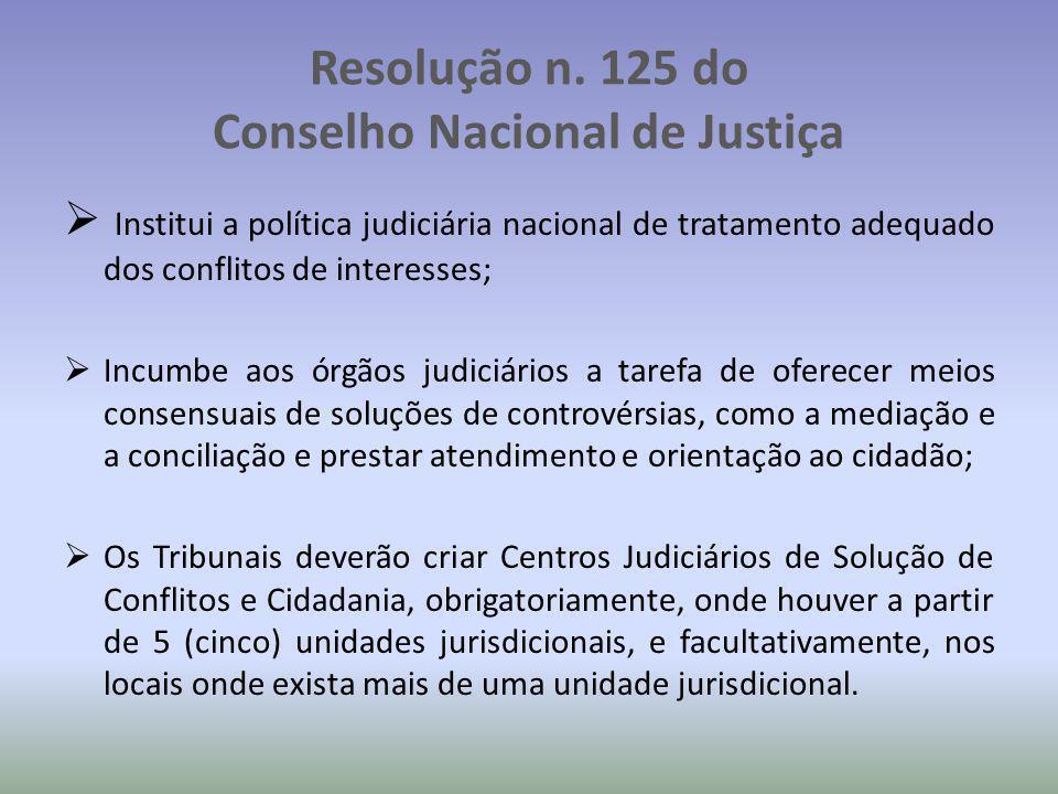 Resolução n. 125 do Conselho Nacional de Justiça