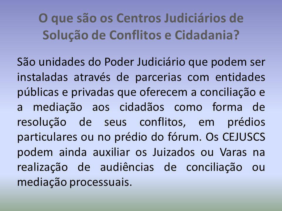 O que são os Centros Judiciários de Solução de Conflitos e Cidadania