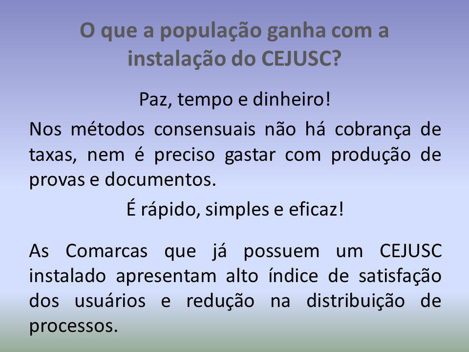 O que a população ganha com a instalação do CEJUSC