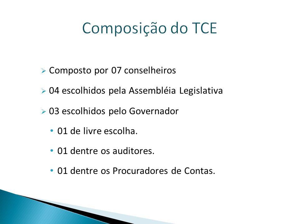 Composição do TCE Composto por 07 conselheiros