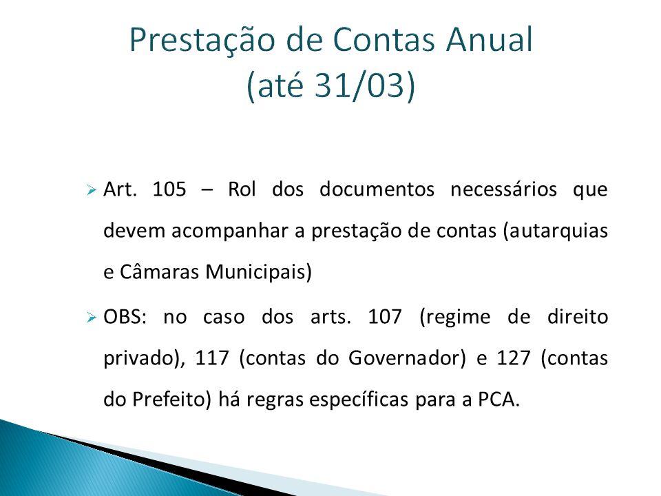 Prestação de Contas Anual (até 31/03)