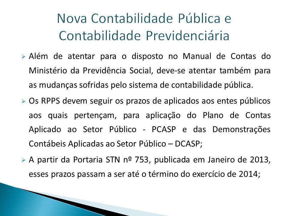 Nova Contabilidade Pública e Contabilidade Previdenciária