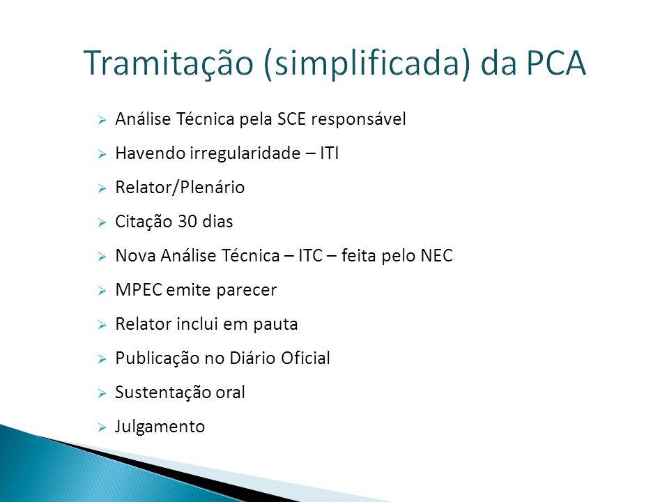 Tramitação (simplificada) da PCA