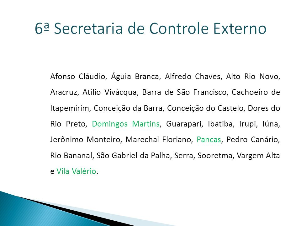 6ª Secretaria de Controle Externo