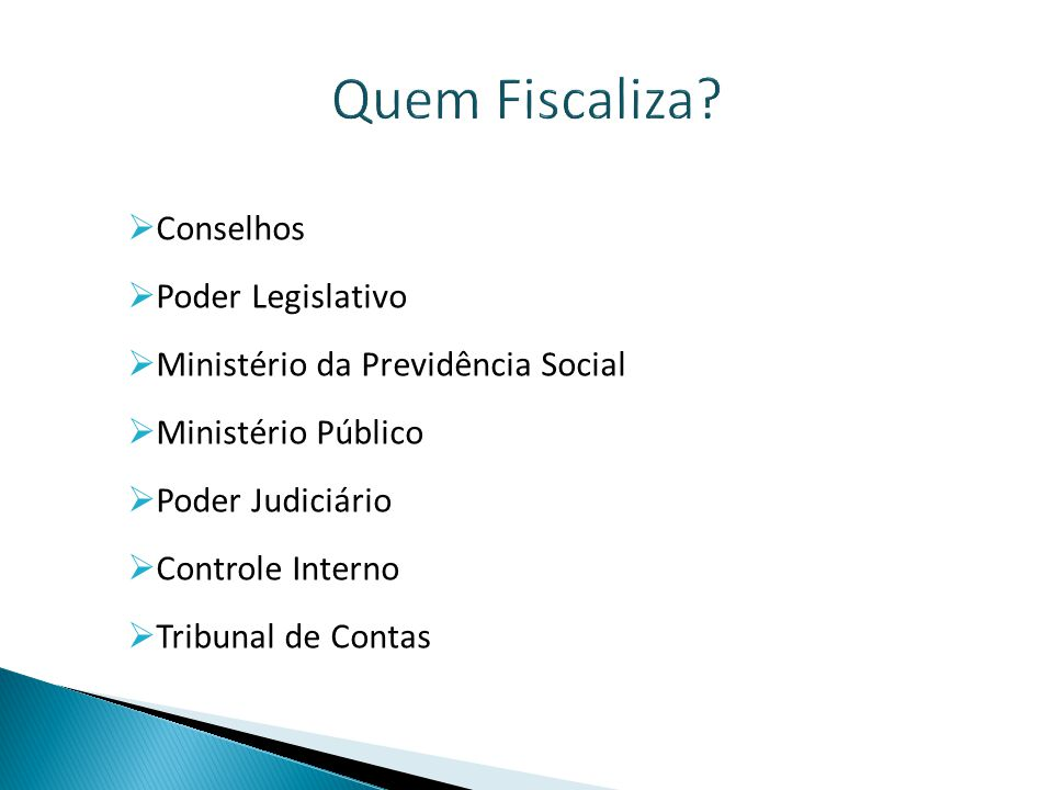 Quem Fiscaliza Conselhos Poder Legislativo