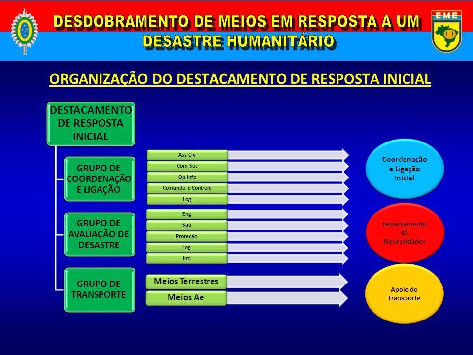 ORGANIZAÇÃO DO DESTACAMENTO DE RESPOSTA INICIAL