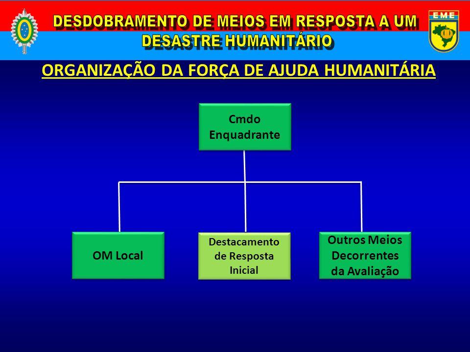 ORGANIZAÇÃO DA FORÇA DE AJUDA HUMANITÁRIA