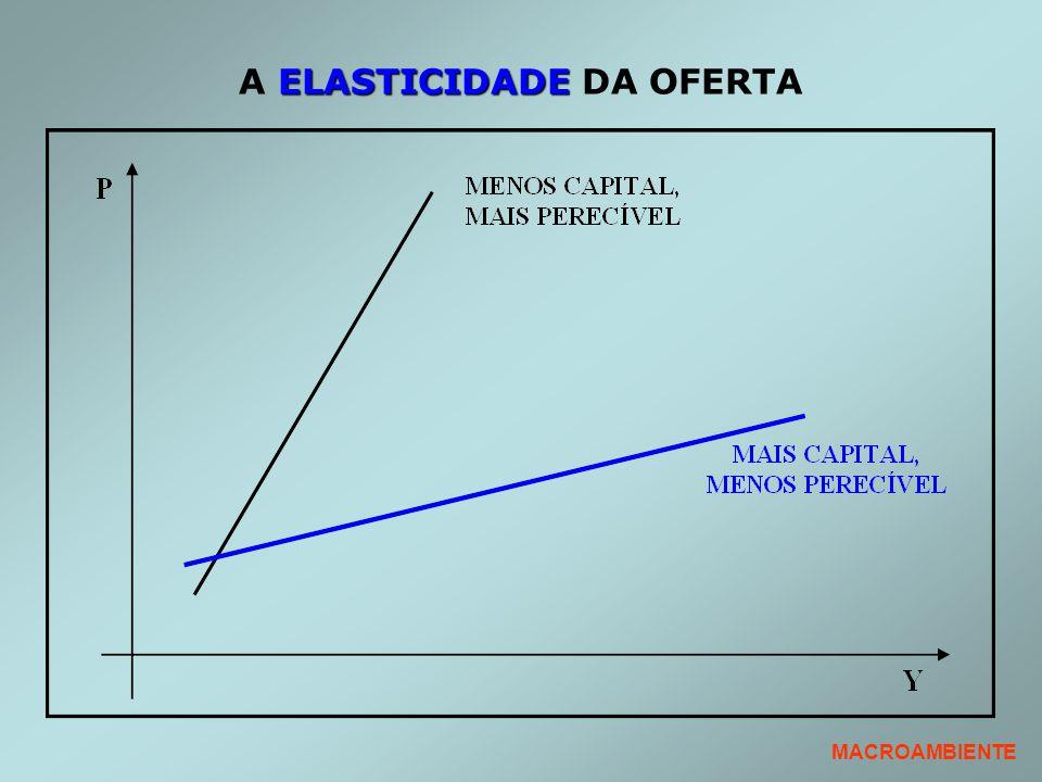 A ELASTICIDADE DA OFERTA