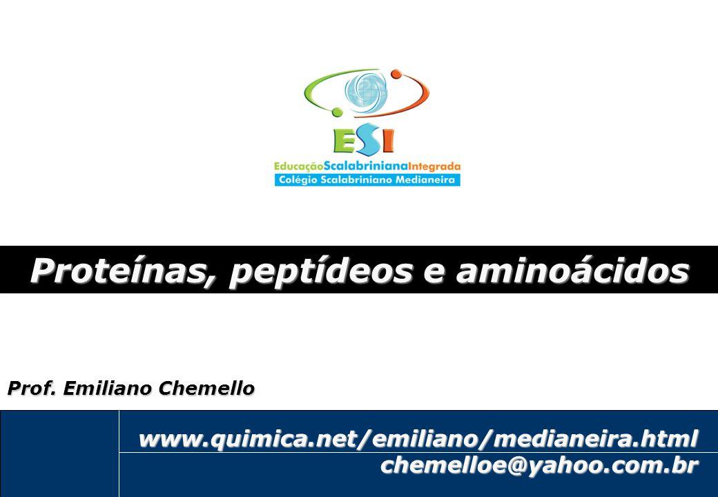 Proteínas, peptídeos e aminoácidos
