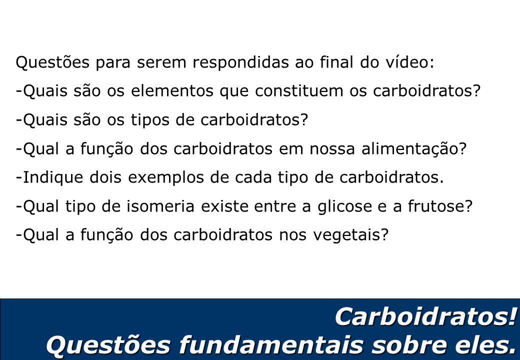 Carboidratos! Questões fundamentais sobre eles.