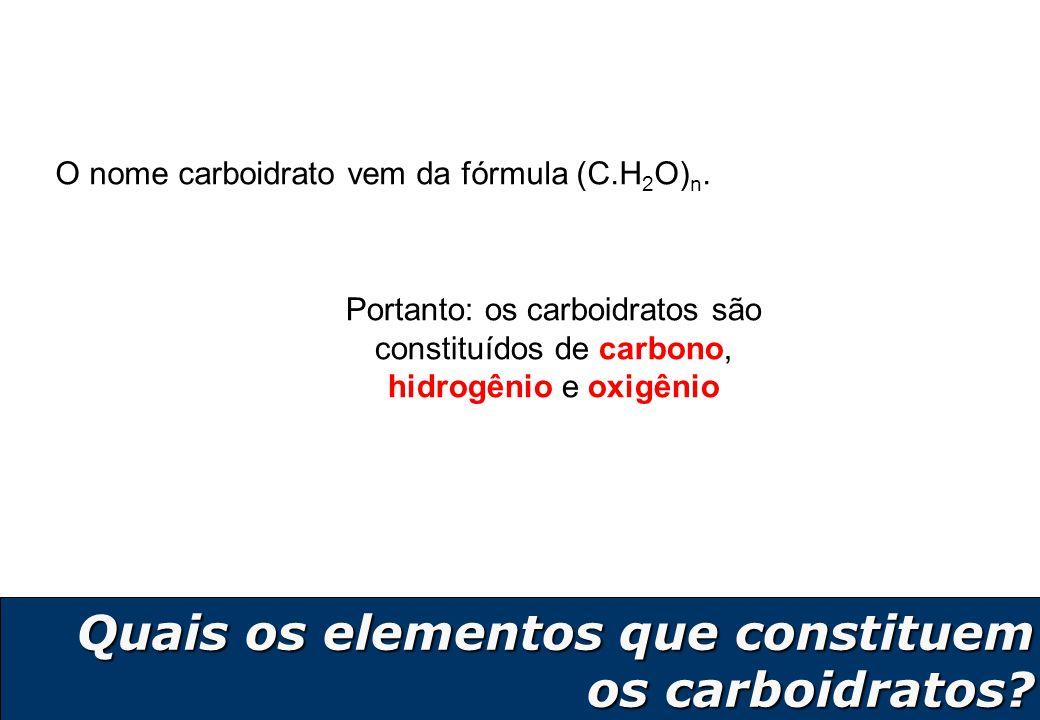 Quais os elementos que constituem os carboidratos