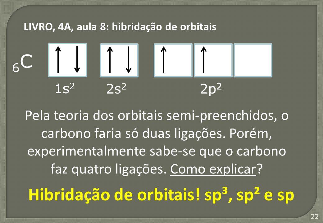 Hibridação de orbitais! sp³, sp² e sp