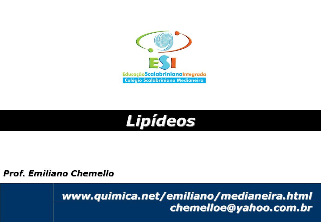 Lipídeos www.quimica.net/emiliano/medianeira.html