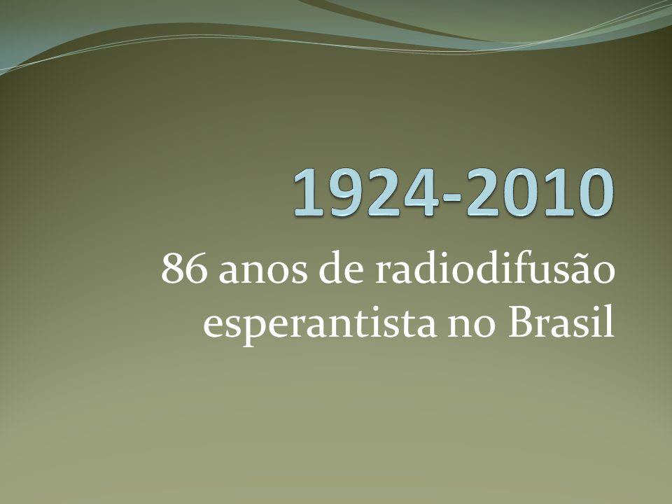 86 anos de radiodifusão esperantista no Brasil