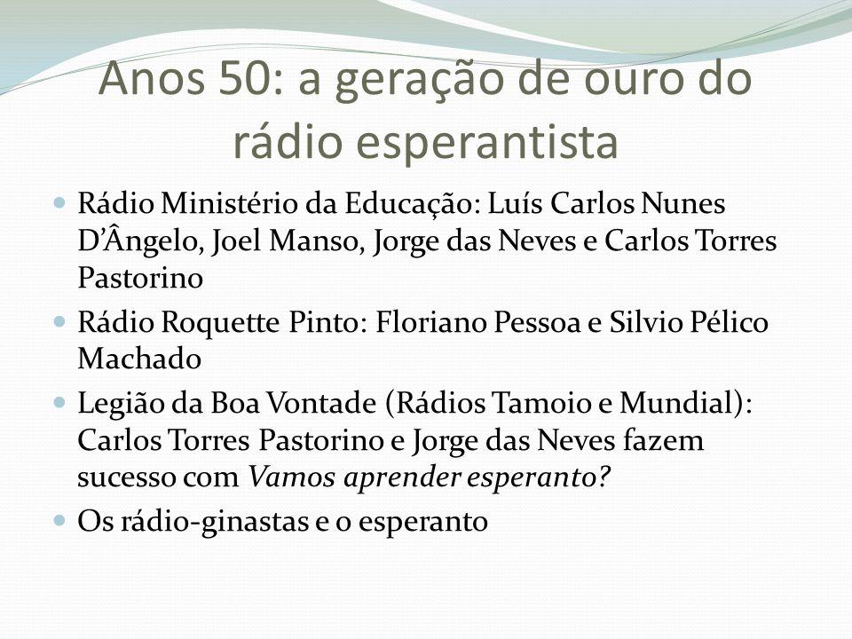 Anos 50: a geração de ouro do rádio esperantista