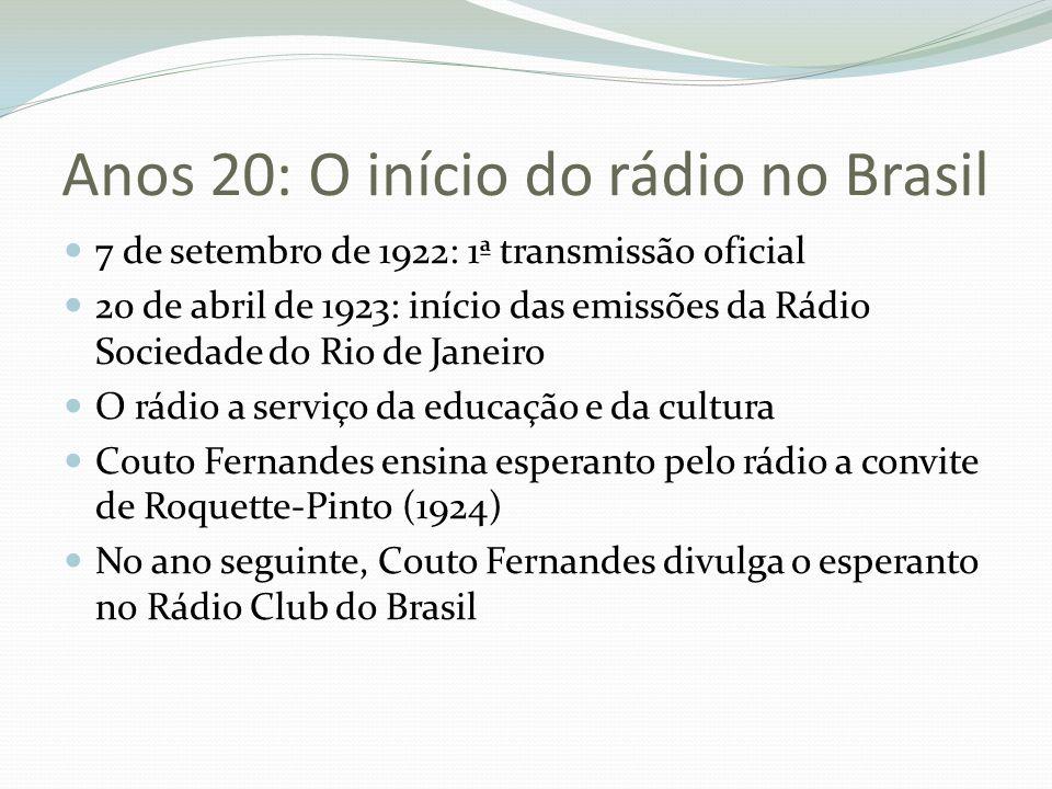 Anos 20: O início do rádio no Brasil