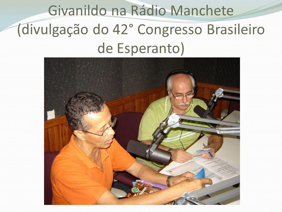 Givanildo na Rádio Manchete (divulgação do 42° Congresso Brasileiro de Esperanto)