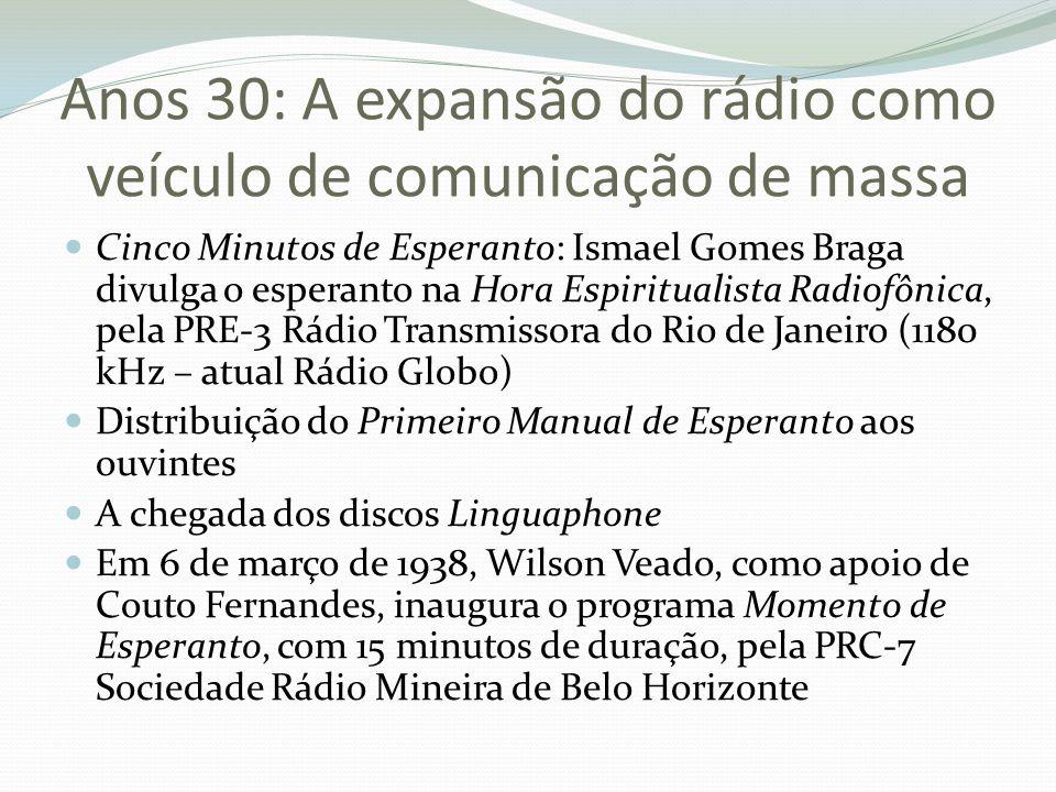 Anos 30: A expansão do rádio como veículo de comunicação de massa