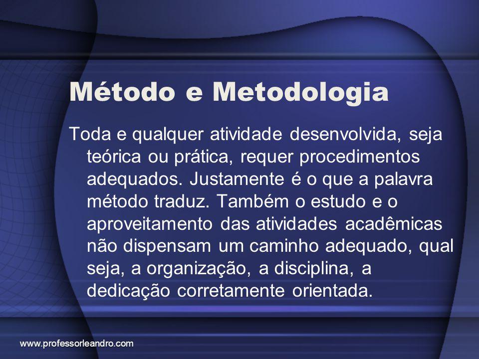 Método e Metodologia
