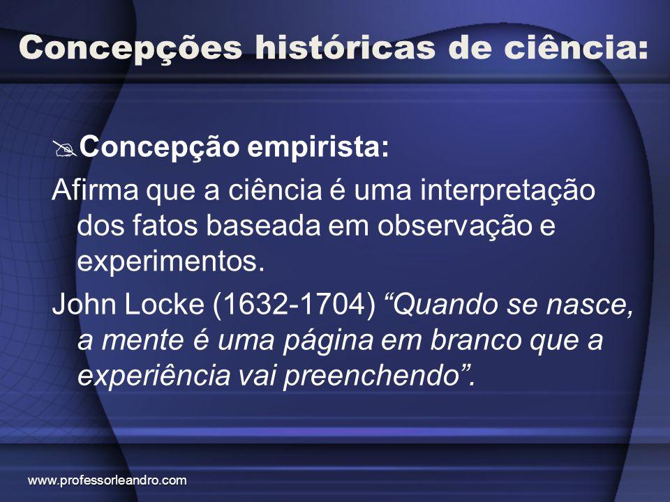 Concepções históricas de ciência:
