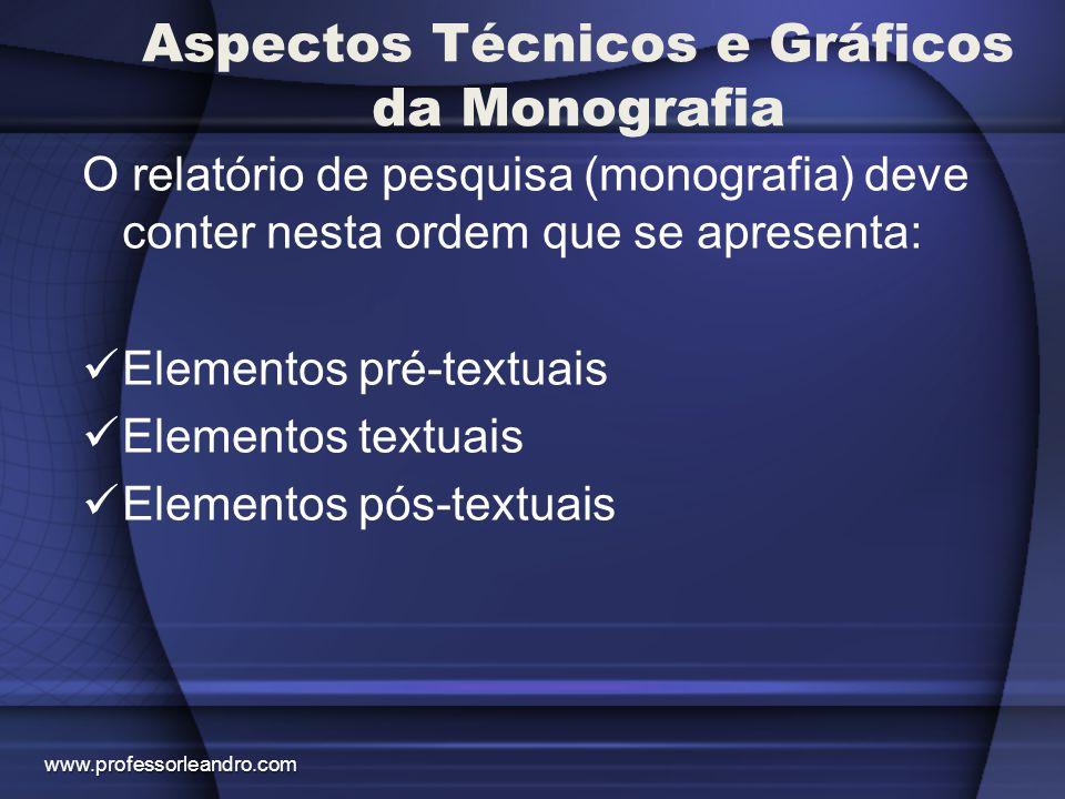 Aspectos Técnicos e Gráficos da Monografia