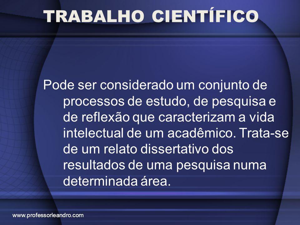 TRABALHO CIENTÍFICO